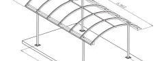 Особенности устройства навесов из поликарбоната